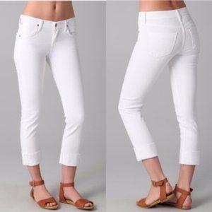 CoH white Dani cropped straight leg jeans